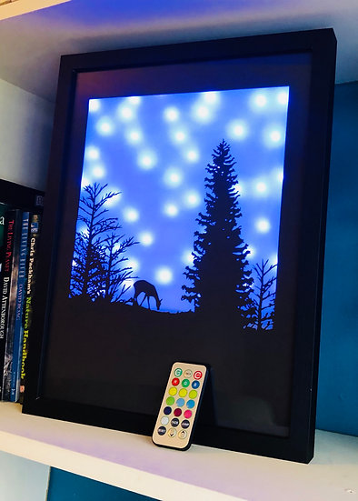 "12"" x 16"" The Doe in the woods (remote controlled, colour changing)"