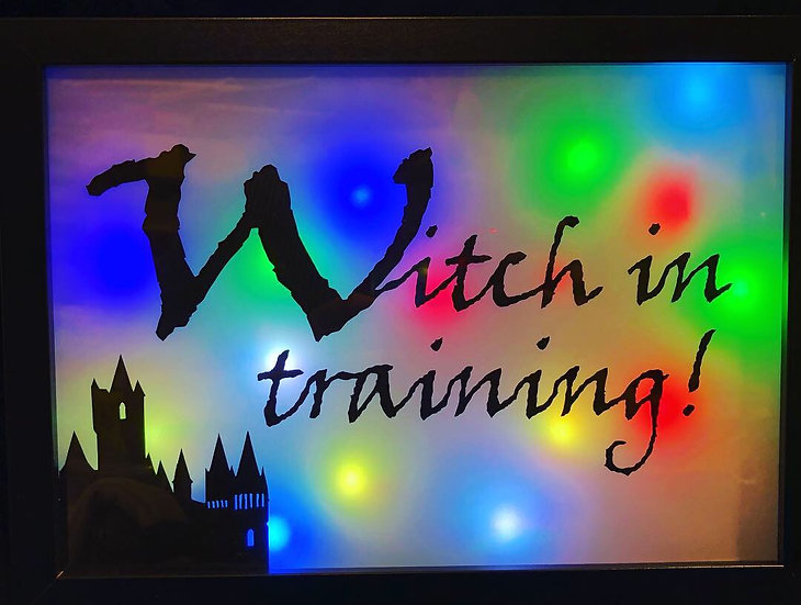 """Witch in training (7"""" x 10"""" Colour changing)"""