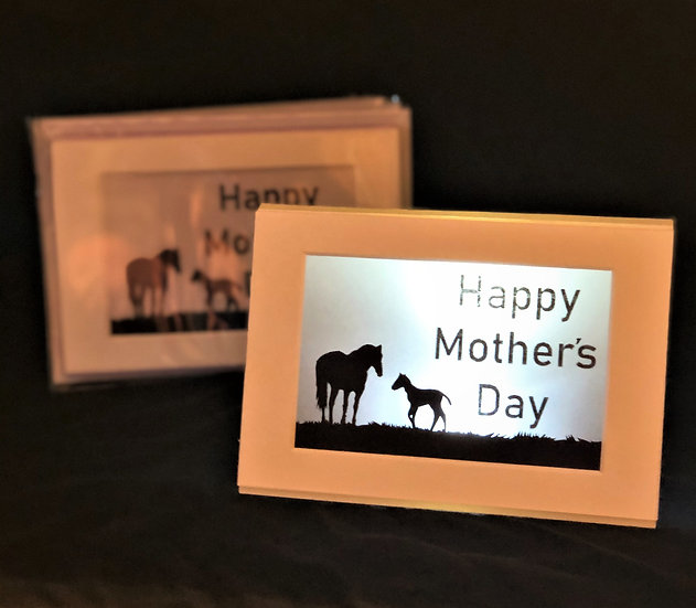 Light Up Mother's Day Card - Horse and foal