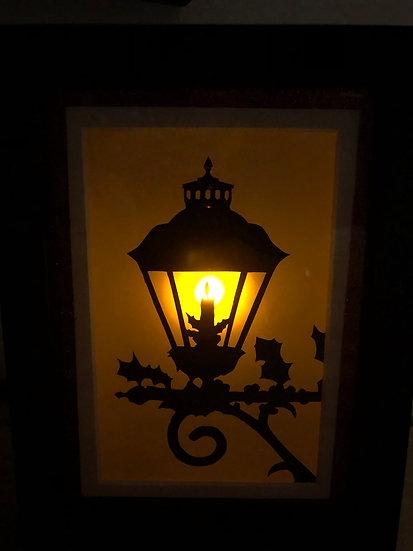 Victorian Christmas Flickering Lantern