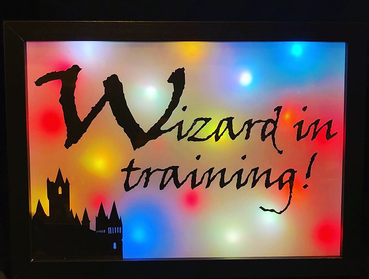 """Wizard in Training (7"""" x 10"""" Colour changing)"""