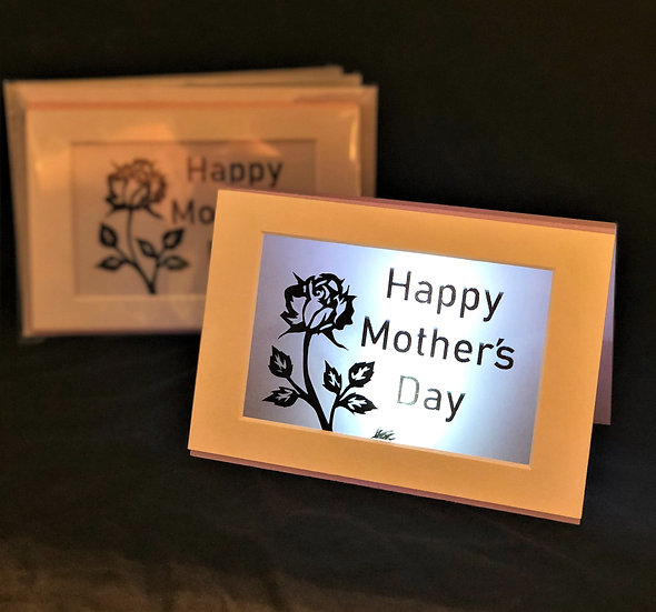 Light Up Mother's Day Card - Rose