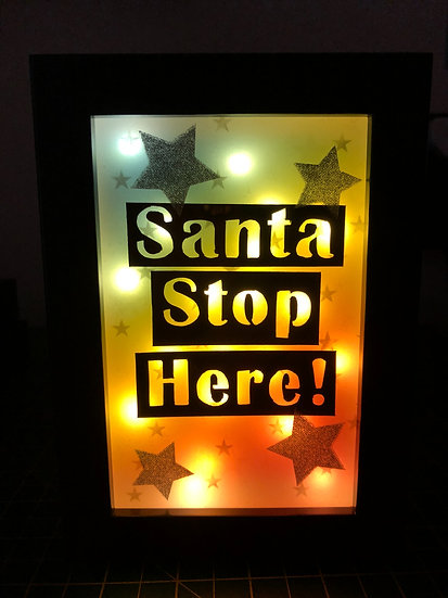 "6"" x 4"" Santa stop here! (Portrait)"