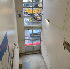 Staircase removed