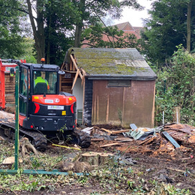 PE shed almost gone....