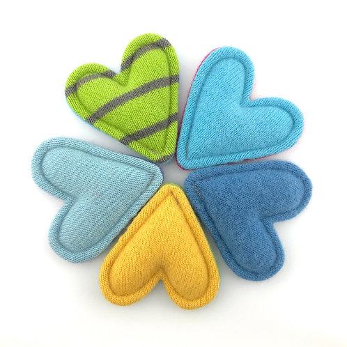 Cashmere Pocket Hearts 2-Tone Set of 5