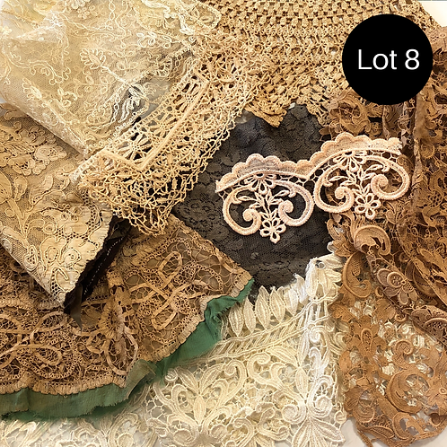 Mixed lots of Vintage Crocheted Trim, Edging, and Lace