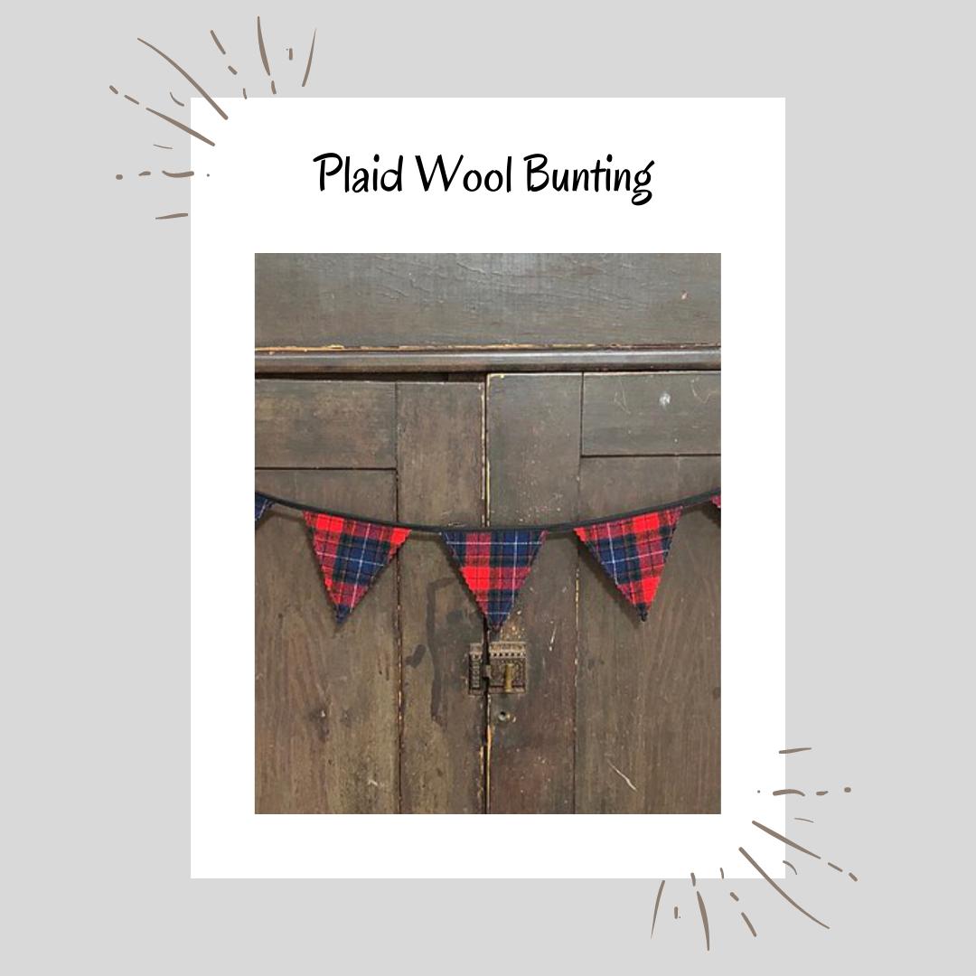 Plaid Wool Bunting