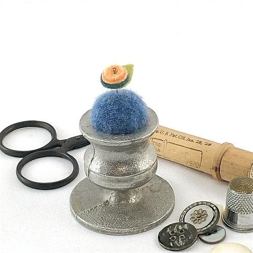 Pincushion - Pewter Candle Holder