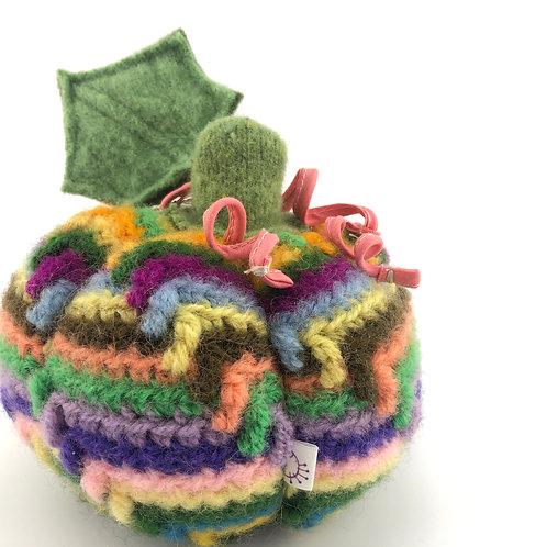 Small Pumpkin - Rainbow Crochet