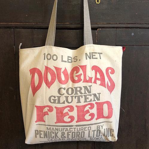 Plaid Farmer Tote - Douglas Feed