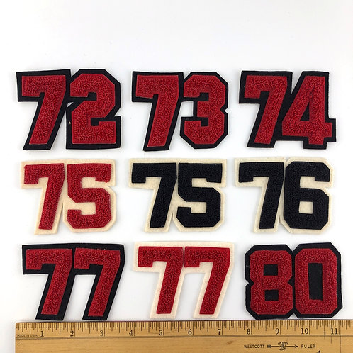 Small Chenille 2-Digit Numbers