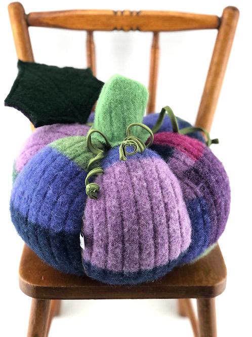 Large Pumpkin - Purple Patchwork