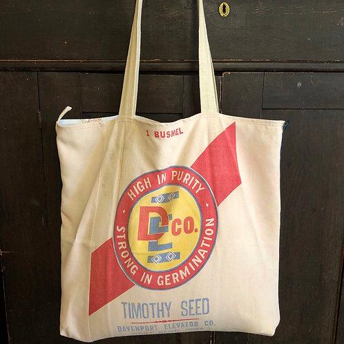 Plaid Farmer Tote - Timothy Seed