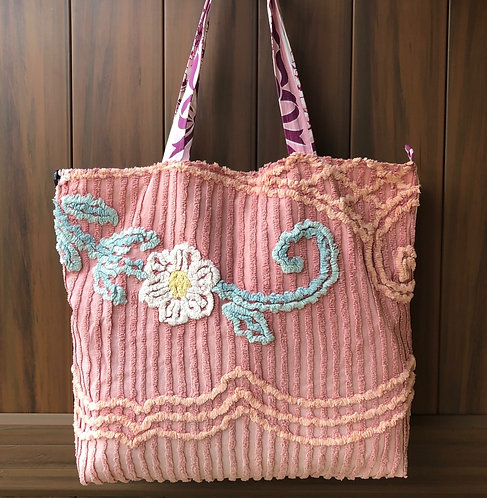 Farmer Tote - Pink Floral