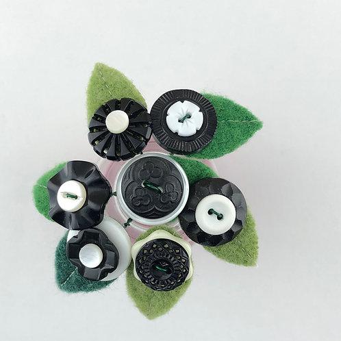 Button Blossoms - Black & White