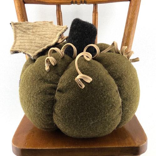 Large Pumpkin - Army Blanket Green