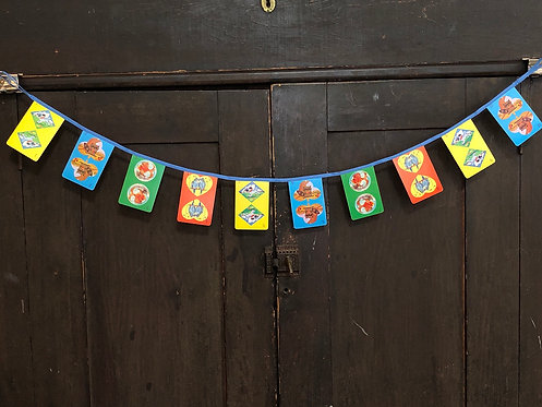 Vintage Playing Card Banner - Hearts