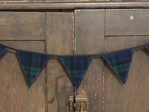 3' Plaid Wool Banner Black Watch Tartan