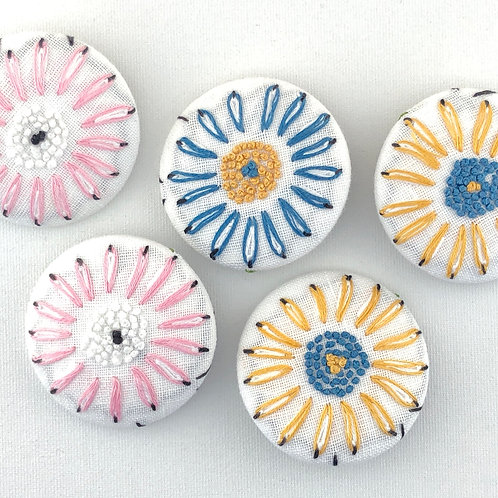 Vintage Embroidery Pin Group 6
