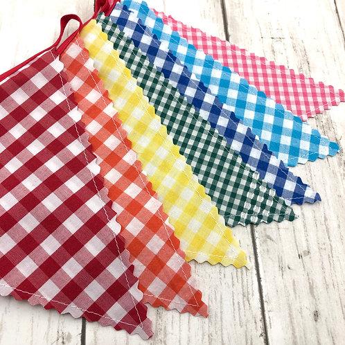 5' Banner - Reversible Fabric Bunting