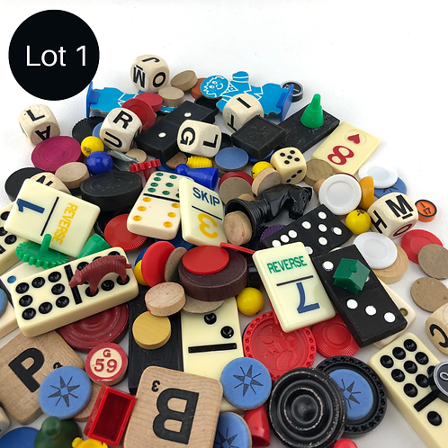 150 Vintage Game Pieces