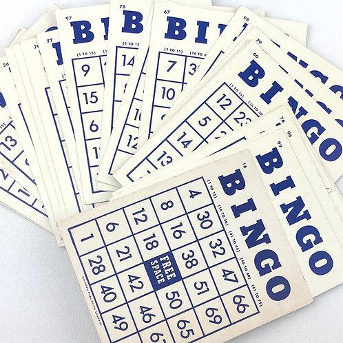 25 Vintage BINGO Cards