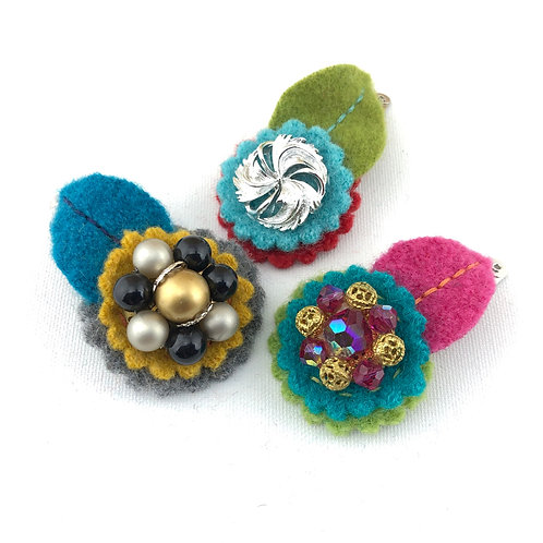 Small Wool Hair Clip - Group 5