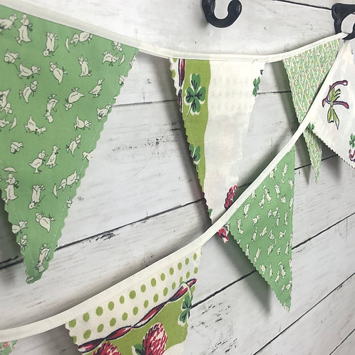 6' Banner - Reversible Fabric Bunting