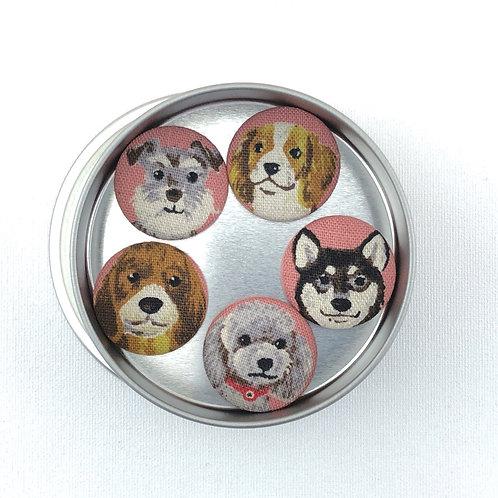 Super Magnets - Dog Mix on Pink