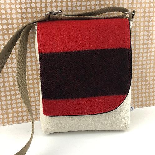 Messenger Bag - Vintage Wool Blanket