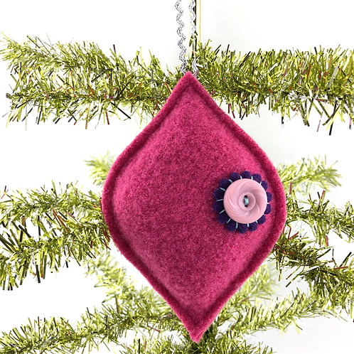 Retro Style Wool Ornament