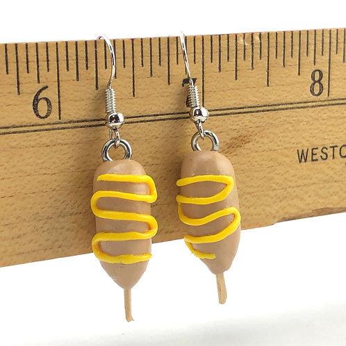 Corn Dog Earrings