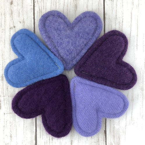 Cashmere Pocket Hearts Set of 5