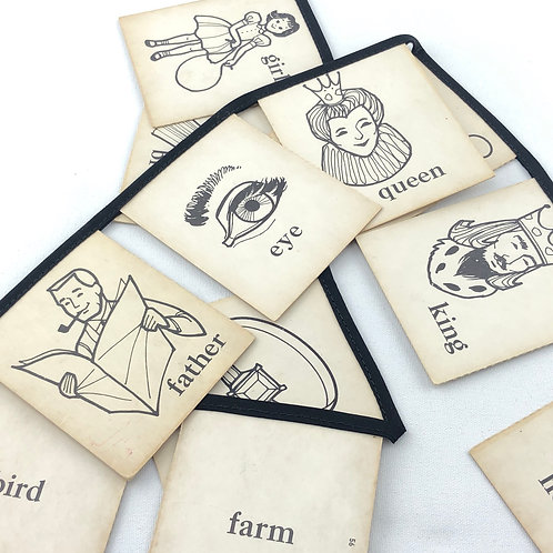 Vintage Playing Card Banner -Vocabulary Cards