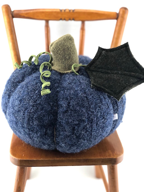 Large Pumpkin - Rustic Blue