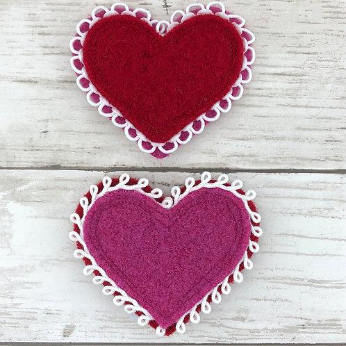 Heart Felted Wool Brooch