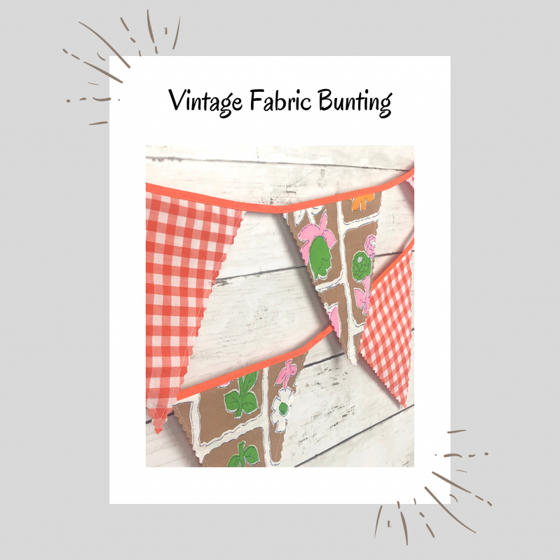 Vintage Fabric Bunting