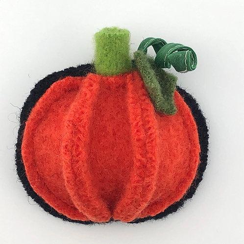 Pumpkin Felted Wool Pin