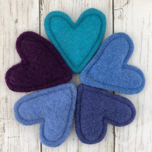 Cashmere Pocket Hearts Set of 5