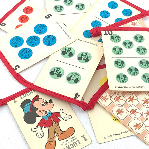Vintage Playing Card Banner - Mickey Mouse in Red Jacket