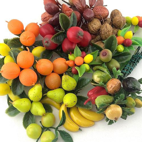 Vintage Plastic Fruits, Veggies, and Nuts