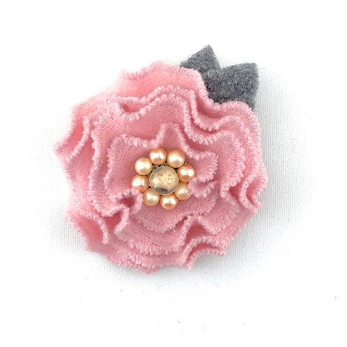 Felted Wool Brooch - Ruffle Flower Group 3