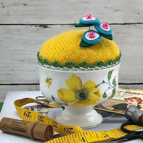 Pincushion - Yellow Roses