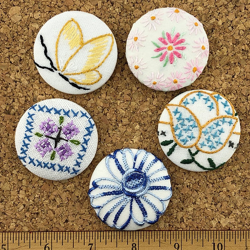 Vintage Embroidery Pinback Button