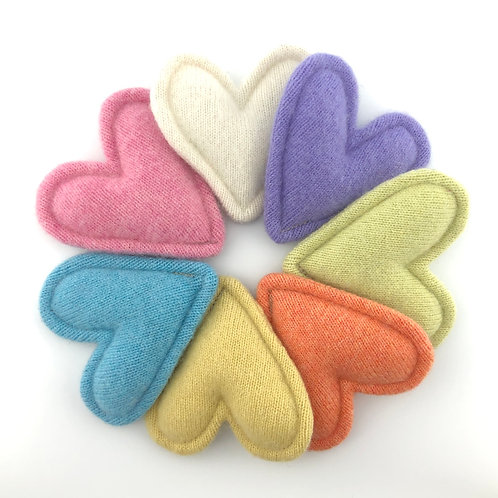 Cashmere Pocket Hearts Set of 7