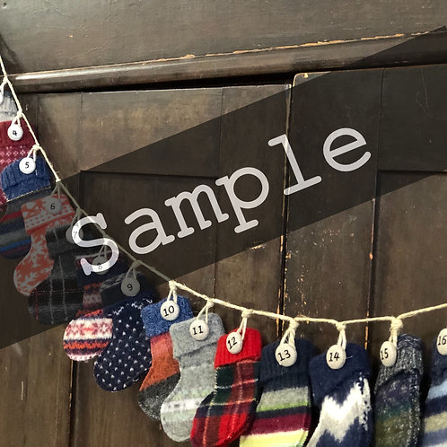 Advent Garland Stockings