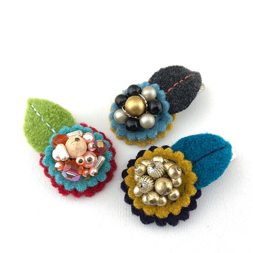 Small Wool Hair Clip - Group 2