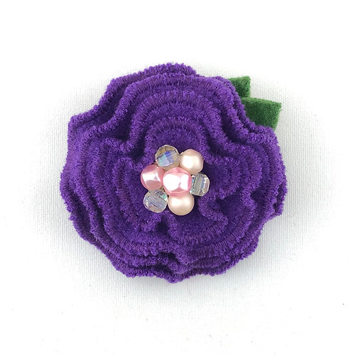 Ruffle Flower Felted Wool Pin
