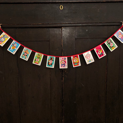 Vintage Playing Card Banner - Crazy Eights
